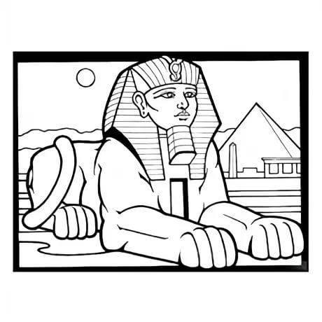 первой египетские сфинксы раскраска идеи воплощения, при