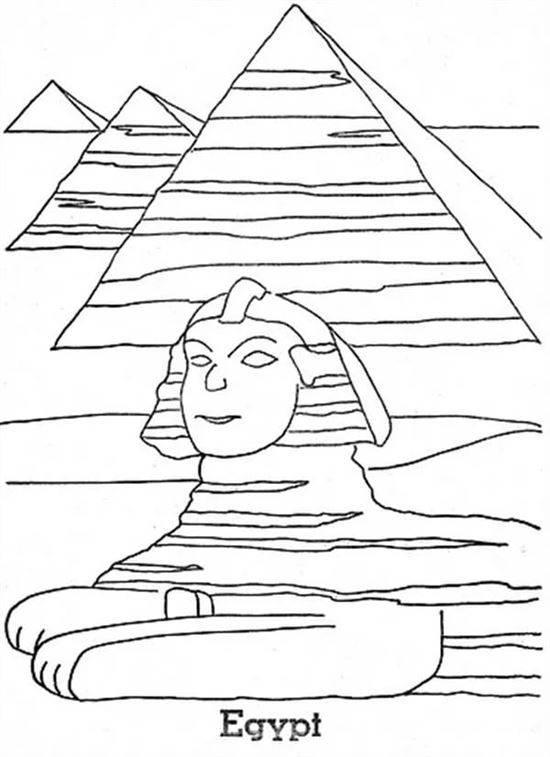 Египетские сфинксы раскраска